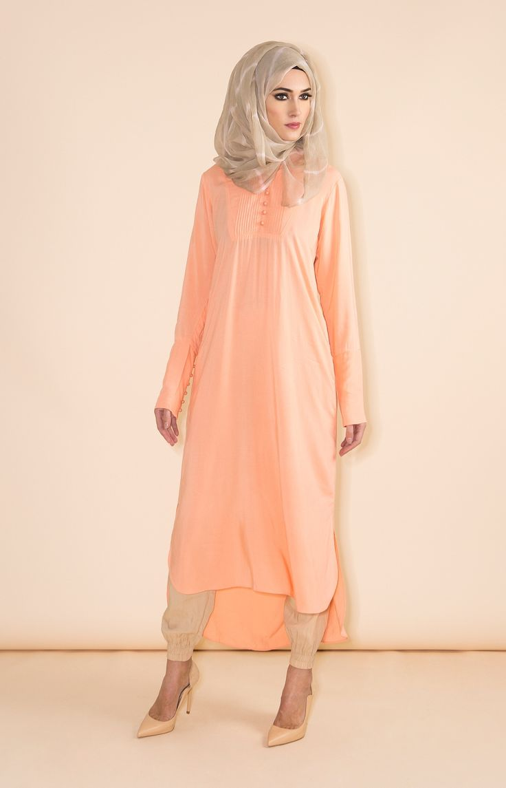 aab-uk-peach-pintuck-kurti-s15