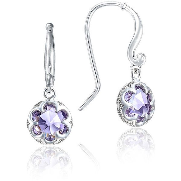 Tacori Sonoma Skies Amethyst Petite Crescent Drop Earrings (1 050 PLN) ❤ liked on Polyvore featuring jewelry, earrings, tacori jewelry, dangle earrings, amethyst earrings, earring jewelry and amethyst drop earrings