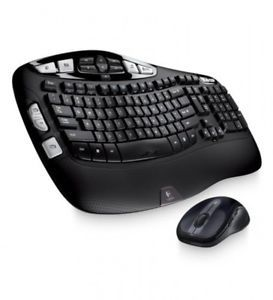 a logitech wireless wave combo mk550 with keyboard and laser mouse new