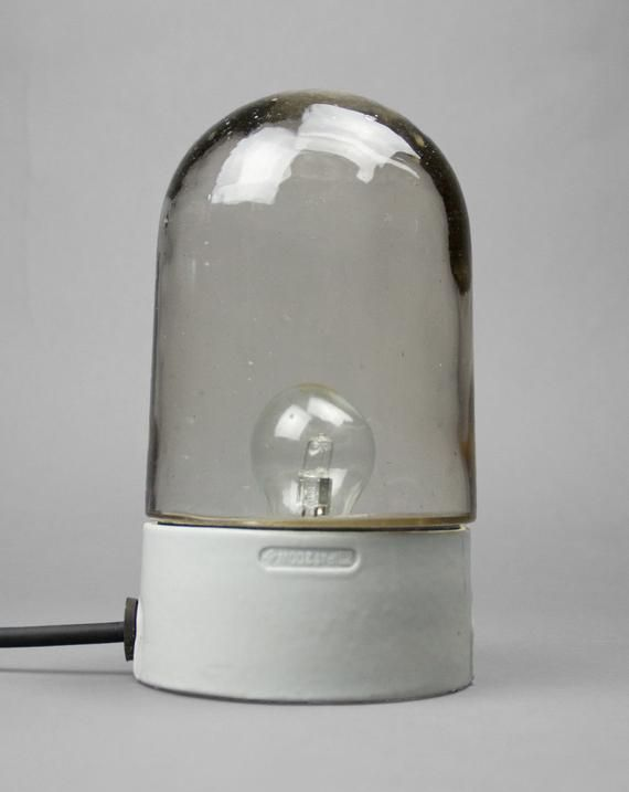 Saddle Oyster Classic Bauhaus Handblown Glass Dome Lamp