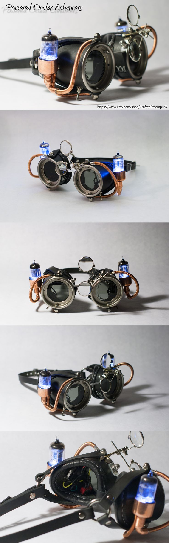 Powered Ocular Enhancers - Black by CraftedSteampunk.deviantart.com on @deviantART