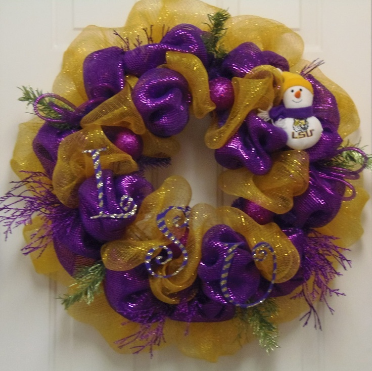 Perfect for front door for LSU Birthday Party for Nicholas.