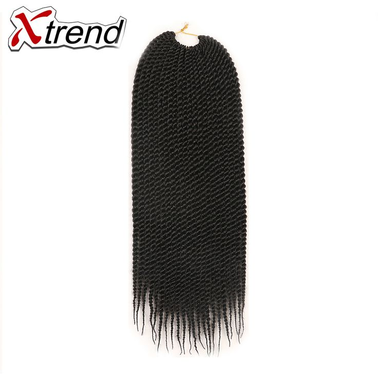 Xtrend 6PCS Senegalese Twist Crochet Braid Hair 22'' 22roots 120g Synthetic Ombre Braiding Hair Extension High Temperature Fiber #Affiliate