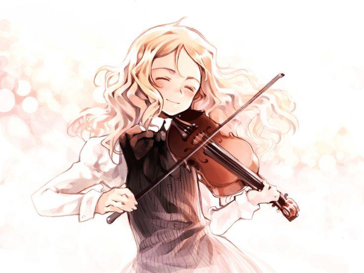 Anime Girl Playing Violin | violin anime | Pinterest