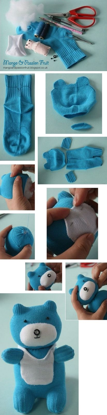 Teddy Bear made of a good old sock!
