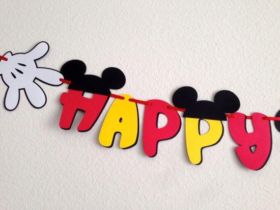 Banner de cumpleaños Mickey Mouse