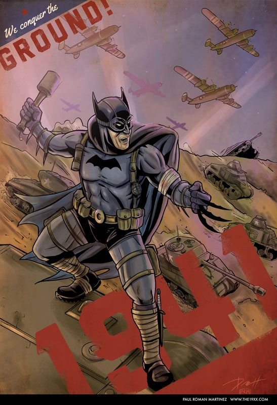 Batman 1941 with the Armored Division by PaulRomanMartinez on deviantART