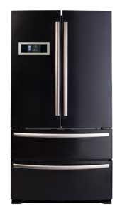 CDA American Style Two Door Fridge With Two Door Freezer - Black - PC87BL #cda