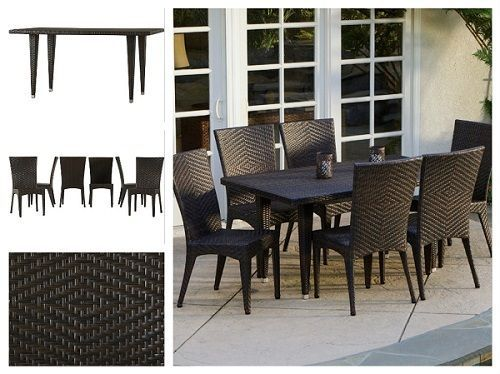 Wicker-Garden-Furniture-Sets-7-Piece-Outdoor-Patio-Dining-Set-Table-Chairs-Deck