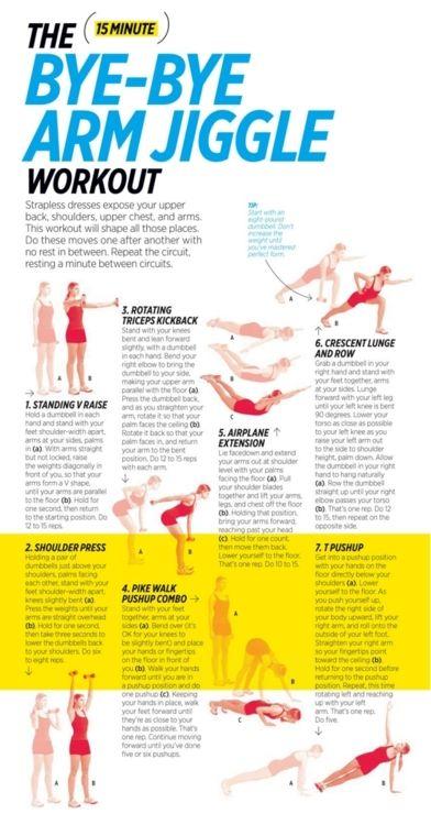 bye-bye arm jiggle: Bats Wings, Arm Workout, Work Outs, Arm Jiggle Workout, Armworkout, Exercise Workout, Bye Bye, Bingo Wings, Arm Exercise