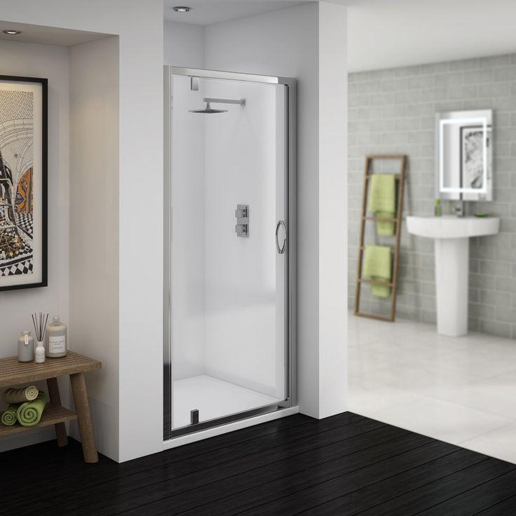 Ventura 1850mm Pivot Shower Door | Now At Victorian Plumbing.co.uk 700mm £99.95