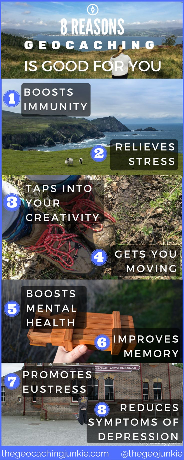 For World Mental Health Day, discover how geocaching is good for mind and body at my blog!