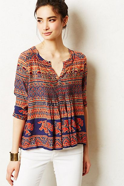 mahdia peasant top . vanessa virginia for anthropologie . $88