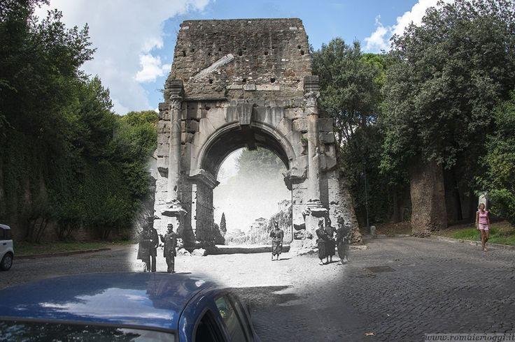 L'Arco di Druso difeso dai soldati borbonici nel 1868.