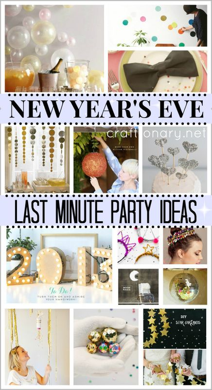 DIY Last Minute New Years Eve Ideas #newyear #nye - it'll have to be next year now. Even I'm not this last minute!