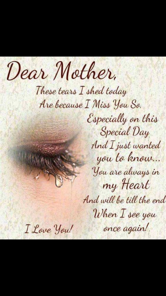 Missing Mom Quotes: Loss Of Mother Quotes Sympathy