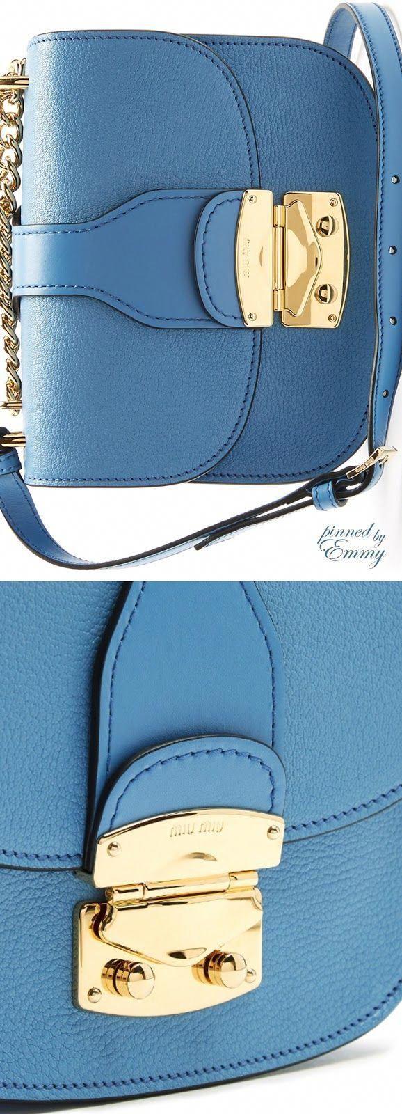 Brilliant Luxury von Emmy DE ♦ Miu Miu Umhängetasche aus Leder mit Kettenriemen #MiuMi …