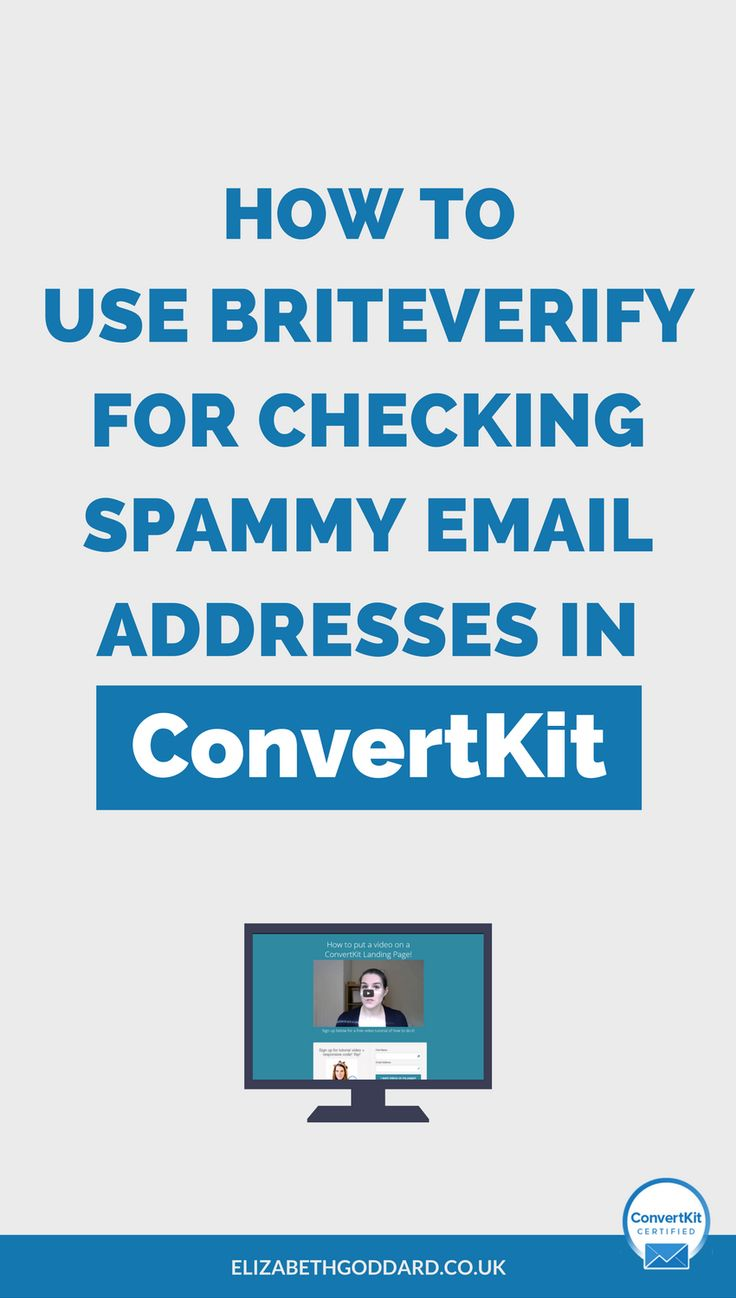 Read my blog post to identify spammy email addresses in your mailing list using Briteverify.   Email marketing is an essential part of your online business marketing strategy.   Newsletter ideas, email newsletter, business newsless, mailchimp newsletter, email marketing template, email marketing tips, email marketing campaign, email marketing services, b2b email marketing, b2b sales funnel.