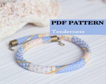 PDF Pattern for beaded crochet necklace  Seed bead crochet