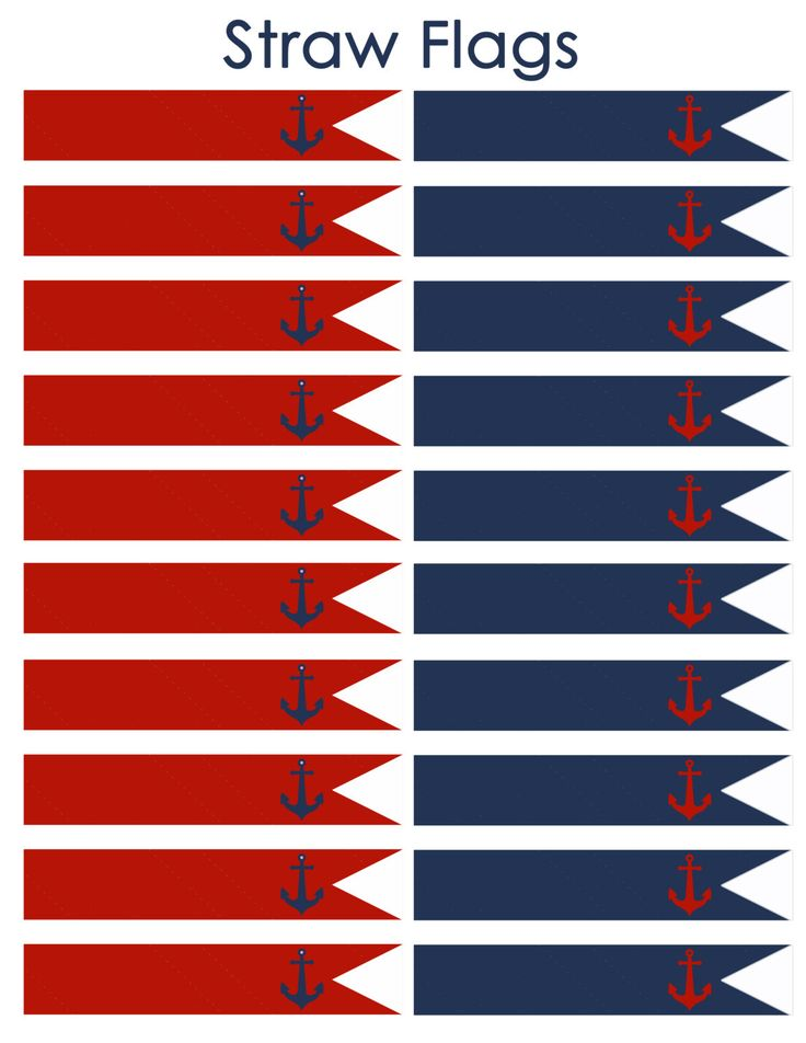 Instant Download Nautical Straw Flags JPEG 300 por DecorAtYourDoor