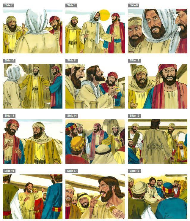 Diaporama : Jésus ressuscité apparaît aux disciples et les envoie en mission - KT42 portail pour le caté