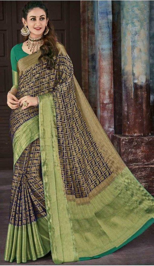 fe0e9ab8db Blue Color Chiffon Jaquard Party Wear Saree | 374244696 #saris #sarees # fashion #women #girls #shopping #onlineshopping #heenastyle