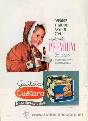 Página publicidad Original *Galletas CUÉTARA. Hojaldrada Premium* - Agencia DANIS - Año 1961