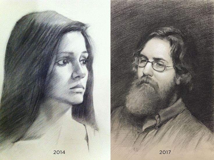 Progress from 2014-2017 Both Charcoal Both 11x17. Left one is from when I started at an academy and the left is the last portrait I just finished before I enter the painting program. I'm happy with my progress so far.