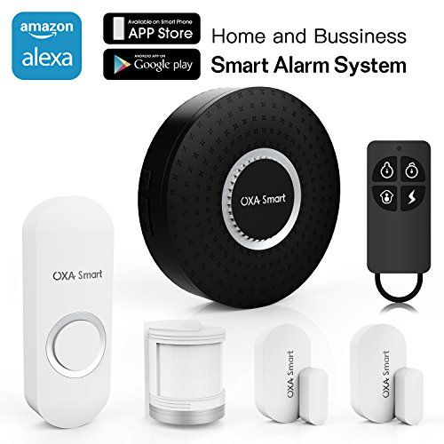 Oxa Smart Wifi Home And Business Security Wireless Sensor Alarm System Door Bell Diy Kit With Sensors Security Cameras For Home Alexa Device Diy Home Security