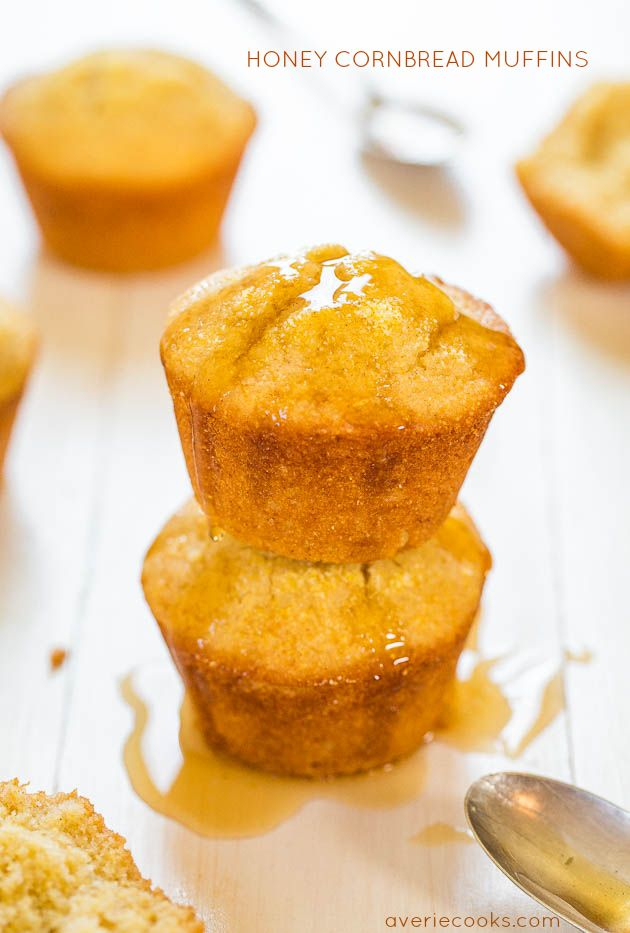 Honey Cornbread Muffin Recipe.