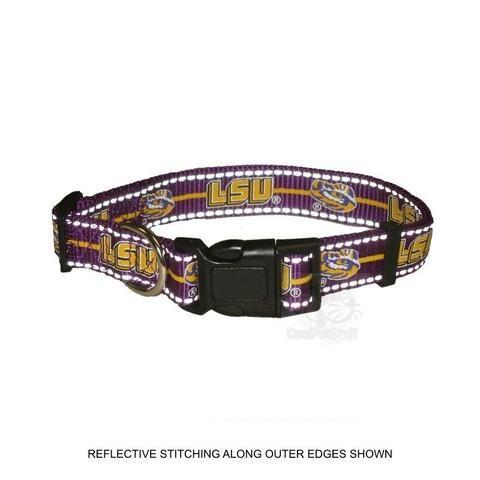Purple NCAA LSU Tigers Dog Collar X-Small