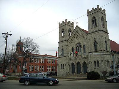 Norwood Ohio High School | Immaculate Conception church at theintersection of Floral Avenue and ...