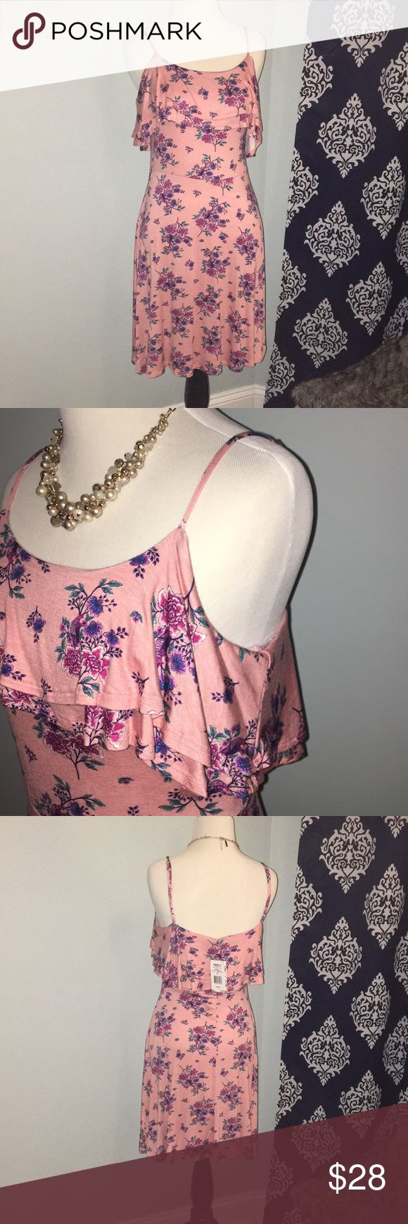 Pink floral tank dress 💜Great condition 10/10 BRAND NEW with tags  🚫No Trades  ✈️NEXT DAY SHIPPING   💜all of my items are cared for, they hang in my guest closet not in a storage box, steamed before packaging.  💵reasonable offers accepted, discounts of multiple items 👍LIKE this item for updates on price drops or ADD ITEMS TO CART for special discounts! Pink Republic Dresses Mini