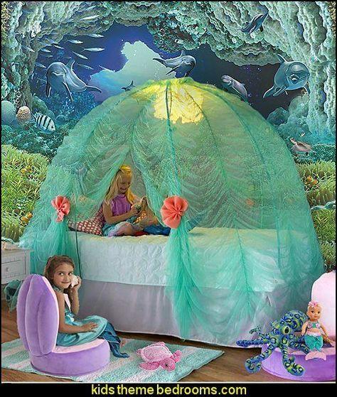 Underwater Bedroom Ideas   Under The Sea Theme Bedrooms   Mermaid Theme  Bedrooms   Sea Life Bedrooms   Little Mermaid Princess Ariel   Sponge Bob  Theme ...