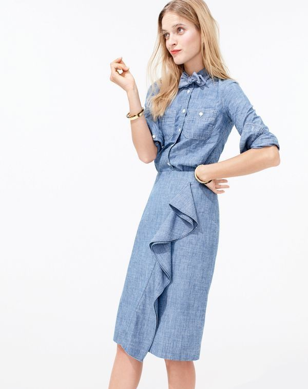 Don't forget: You can never have too much of a good thing. Especially if that good thing is J.Crew Women's Japanese selvedge cotton chambray. (I mean, we even made a bow tie.)