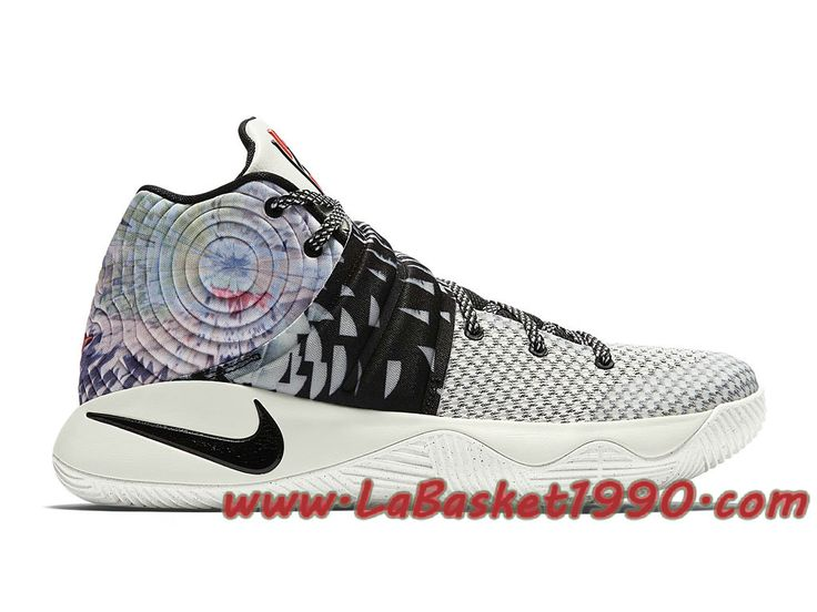Nike Kyrie 2 Effect 819583-901 Chaussures Nike Basket Pas Cher Pour Homme Blanc  Noir