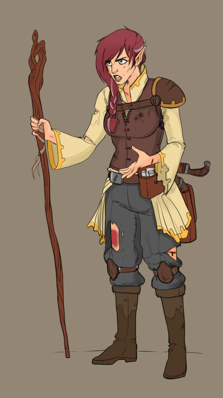 f Wood Elf Druid Staff Scrolls lwlvl traveler