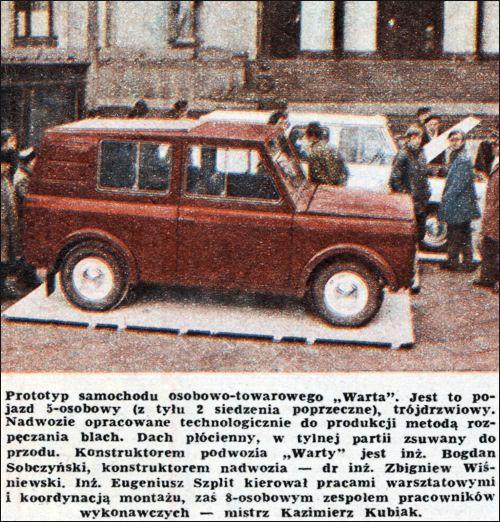 "OG | 1971 FSO Tarpan ""Warta 1"" | Prototypes"