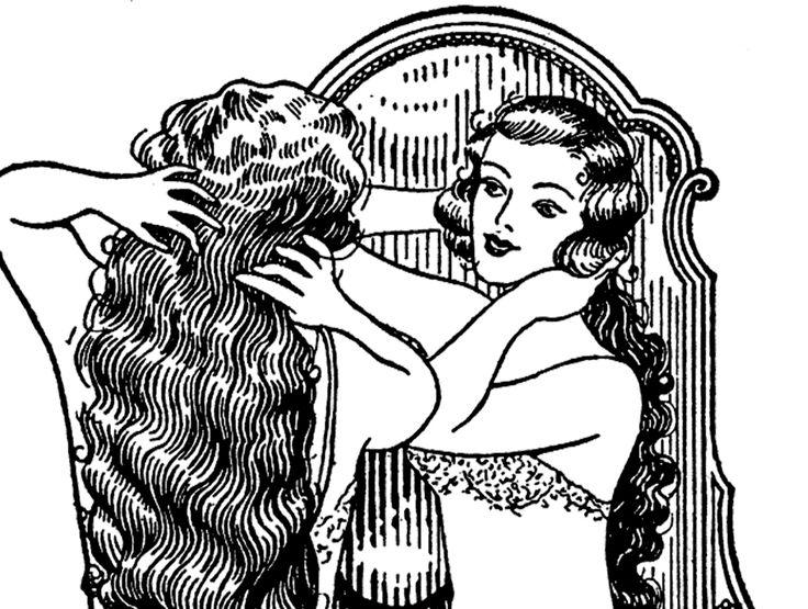 Vintage Long Hair Image – Lovely!