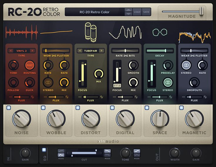 RC-20 Retro Color - XLN Audio | RC-20 Retro Color is a creative effect plugin that adds life and texture to any recording. It easily recreates the warm, cozy feeling of vintage recording equipment, but also works perfectly in any modern production setting. | OMG I ADORE THESE KINDS OF PLUGINS, AND THIS LOOKS LIKE ONE OF THE MOST ELEGANT AND COHESIVE YET!