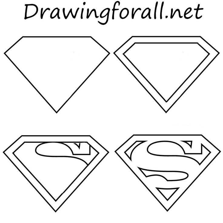 How To Draw The Superman Logo Drawing Pinterest Superman Logo