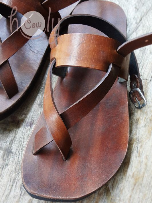Wonderful Handmade Sandals Leather Sandals Mens Sandals. By HolyCowproducts