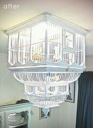 Birdcage light fitting