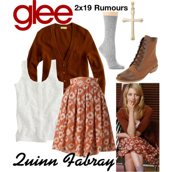 Quinn Fabray (Glee) : 2x19 by aure26 on Polyvore featuring mode, Hue and glee