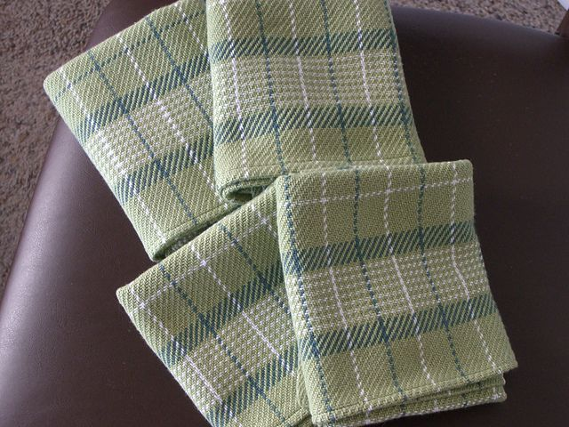 Handwoven Top Ten Towels on Four Shafts