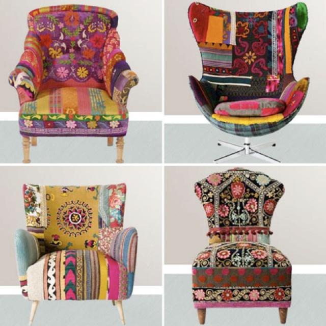 boho upholstery
