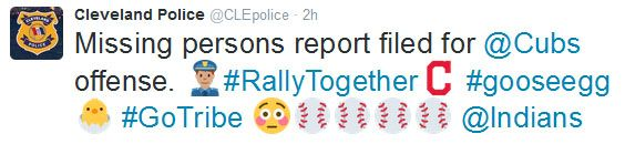 Cleveland Police Gloat Following Game One - http://blog.clairepeetz.com/cleveland-police-gloat-following-game-one/