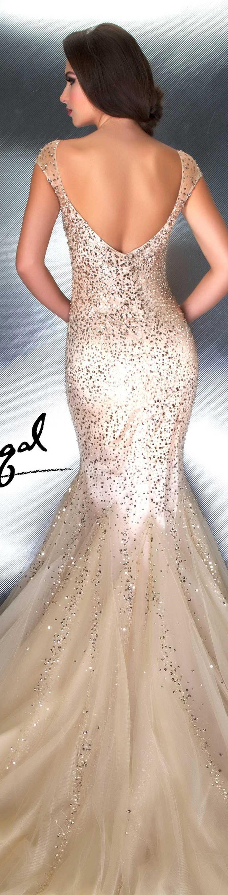 Ok wedding gallery the beauty dress of cheongsam 2013 - Mac Duggal Couture Dress Nude Couture Dresses Style 1250d Back