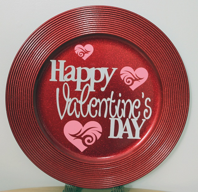 Valentine's Day Charger Plate. - Vinyl - Cricut Forums