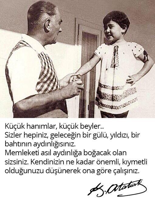 Mustafa Kemal Atatürk'ün tüm çocuklara armağan ettiği 23 Nisan Ulusal Egemenlik ve Çocuk Bayramı Kutlu Olsun! pic.twitter.com/Je9BqR4rco